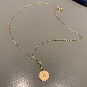 "Jewelry - 14k Gold ""M"" letter pendant"